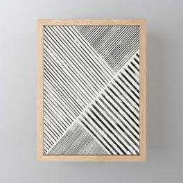 Black and White Stripes, Abstract Framed Mini Art Print