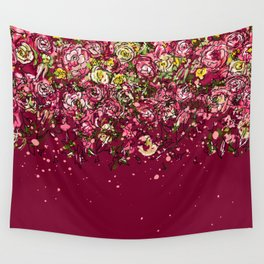 Purple drooping flowers Wall Tapestry