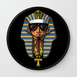 Egyptian Pharaoh Tutankhamon Gangsta King Tut Wall Clock