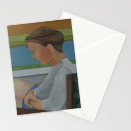 Woman in Chair Stationery Cards