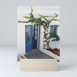 A Blue Entrance Door Mini Art Print