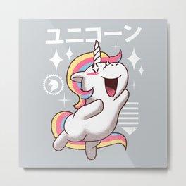 Kawaii Unicorn Metal Print