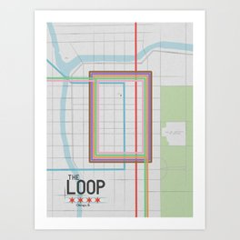 Chicago's Loop Art Print