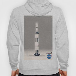 retro Apollo Saturn 5 poster Hoody