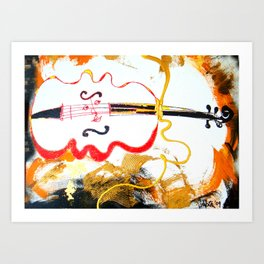 Immersed in Bach Partitas    by Kay Lipton Art Print