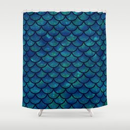 Mermaid scales iridescent sparkle Shower Curtain