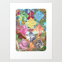 Masquerade of the leaving summer Art Print