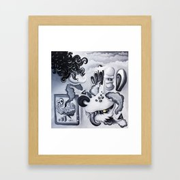 Dog Brain Framed Art Print