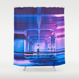 Glitchy Dreams Of You Shower Curtain