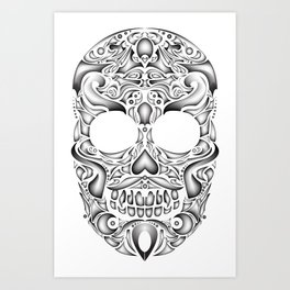 Lucha skull Art Print