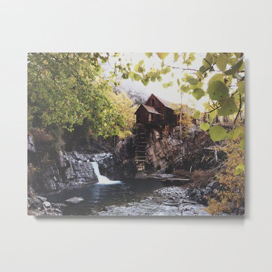 The Crystal Mill Metal Print