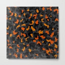 Blocky Camo [orange] Metal Print