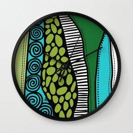 Green Dive -Plongeon vers-textures Wall Clock