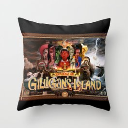 The Seven Deadly Sins of Gilligan's Island Throw Pillow
