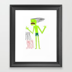 HULK SMASH Framed Art Print