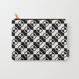 black & white check repeat Carry-All Pouch