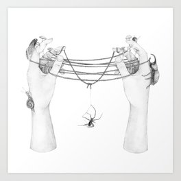 The Tangled Web We Weave Art Print