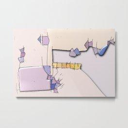 Spontaneous watercolor experimental abstract art nature mathematics theory order C&F_010 Metal Print