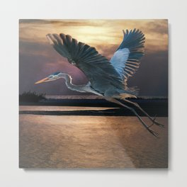 Caught in the afterglow Metal Print