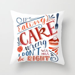 Cake Quote   Gilmore Girls Throw Pillow