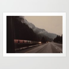 Train through the Mountain Art Print