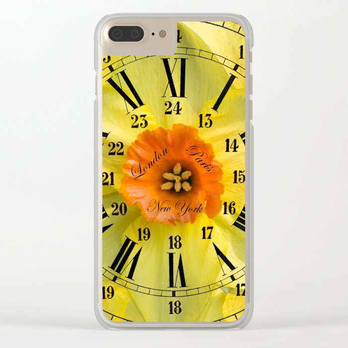 The Power of Petals 2...The Clock! Clear iPhone Case