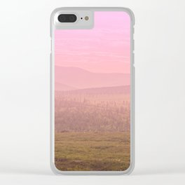 Pink Landscape - #society6 #buyart Clear iPhone Case