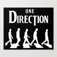 1d Canvas Prints featuring 1D Road by pygmy