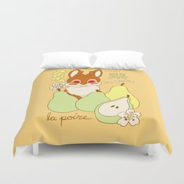 Jackalope and Pear Duvet Cover
