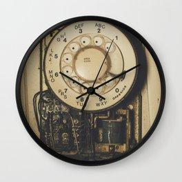 No Dial Tone Wall Clock