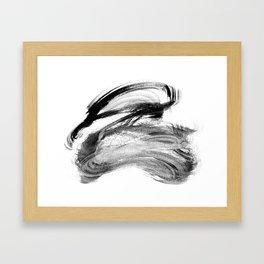 I wash my brush to get grey Framed Art Print