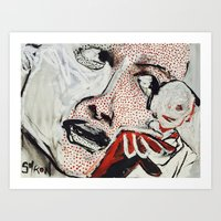 lichtenstein Art Prints featuring Lichtenstein - a Portrait by Helen Syron
