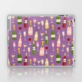 Rose drinks champagne wine bar art food fight apparel and gifts purple Laptop & iPad Skin