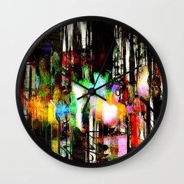 abstratown Wall Clock