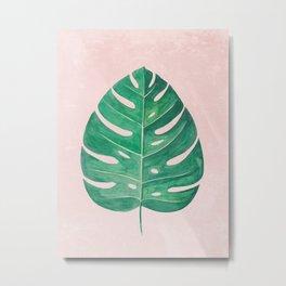 Monstera Leaf #1 | Watercolor Painting Metal Print