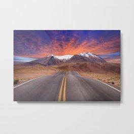 Mountain road to Nowhere Metal Print