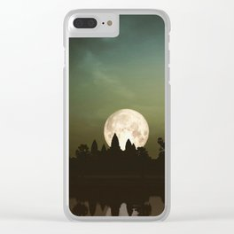 Angkor Wat Super Moon Clear iPhone Case