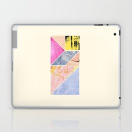 Collaged Tangram Alphabet - I Laptop & iPad Skin