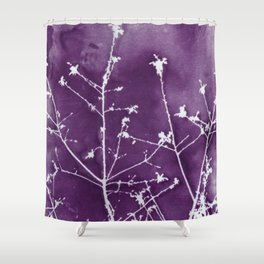 Ultra Violet Botanical Art Shower Curtain