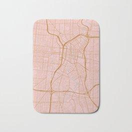 San Antonio map, Texas Bath Mat