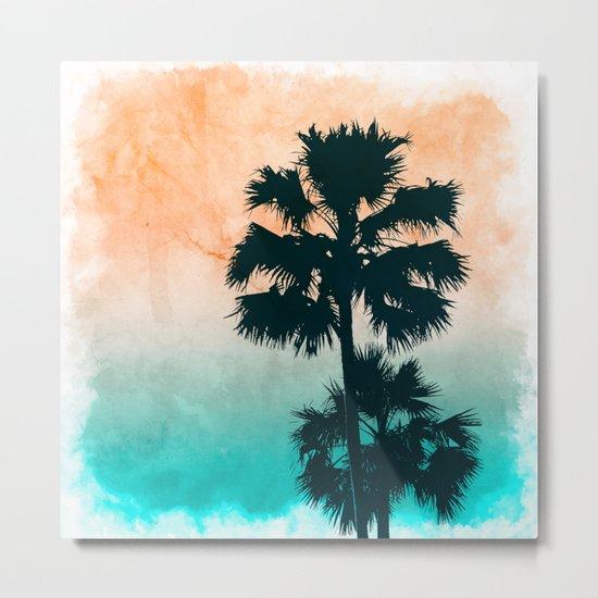 Palms on the beach Metal Print