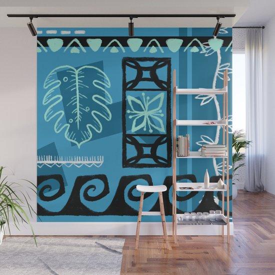 Hawaiian Pattern #1 - aqua! by erinkant