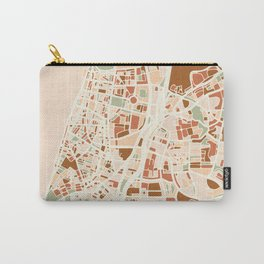 TEL AVIV ISRAEL CITY MAP EARTH TONES Carry-All Pouch