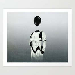 The Stormtrooper - #2 in the Balloon Head Series Art Print