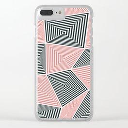Geometric 3 Clear iPhone Case