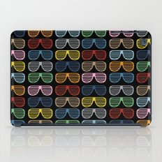 Rainbow Shutter Shades at Night iPad Case