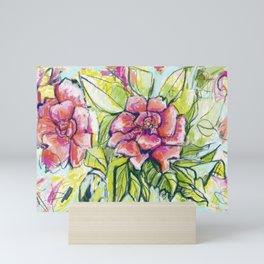 a rosey garden Mini Art Print