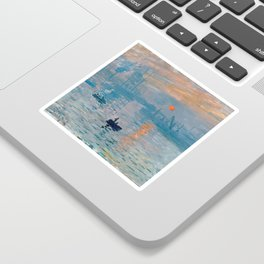 Claude Monet Impression Sunrise Sticker