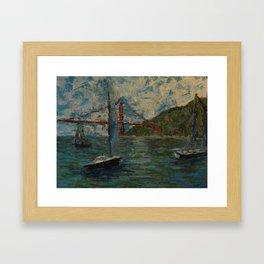 Sailboats on the Bay Framed Art Print