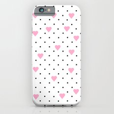 Pin Point Hearts Pink Slim Case iPhone 6s